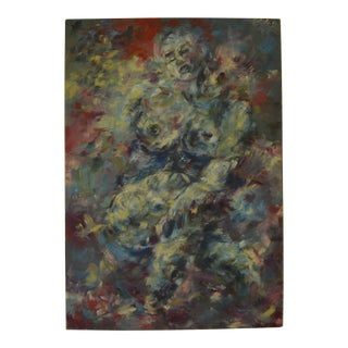 Large Abstract Expressionism Female Nude Painting