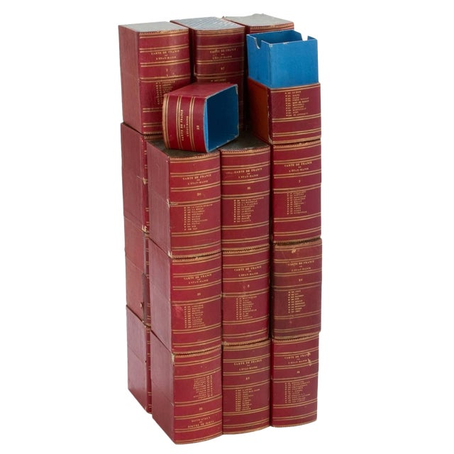 Red Book Boxes With Blue Interior - Collection of 22 For Sale