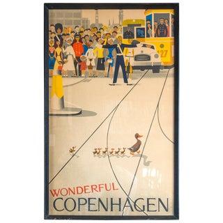 """Wonderful Copenhagen"" Vintage Poster For Sale"