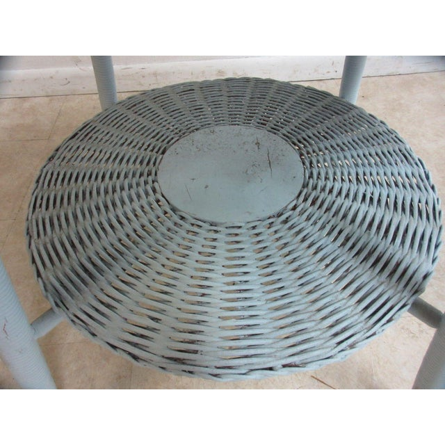 Victorian Antique Victorian Wicker Patio Dinette Table For Sale - Image 3 of 8
