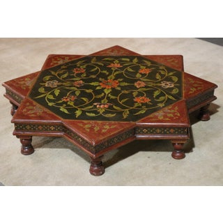 1920s Indian Painted Wooden Low Coffee Table Preview