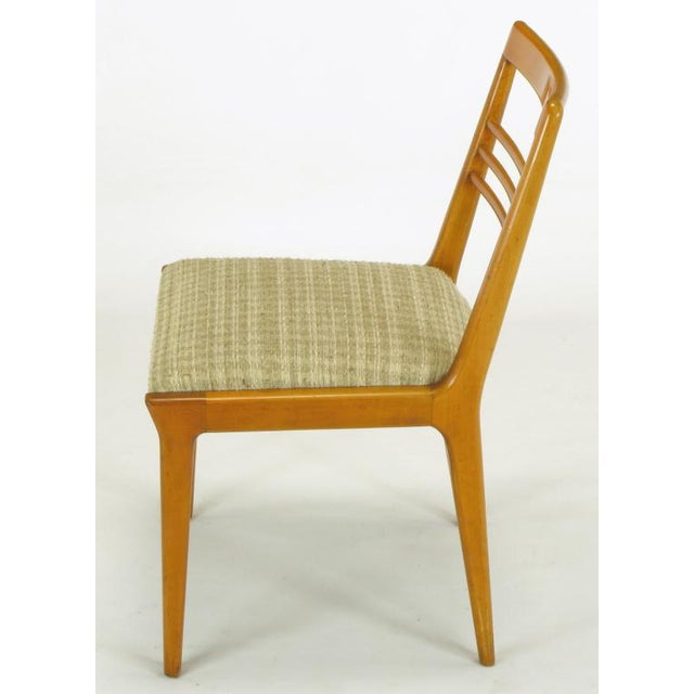 Four Renzo Rutili Walnut & Upholstered Dining Chairs For Sale In Chicago - Image 6 of 10