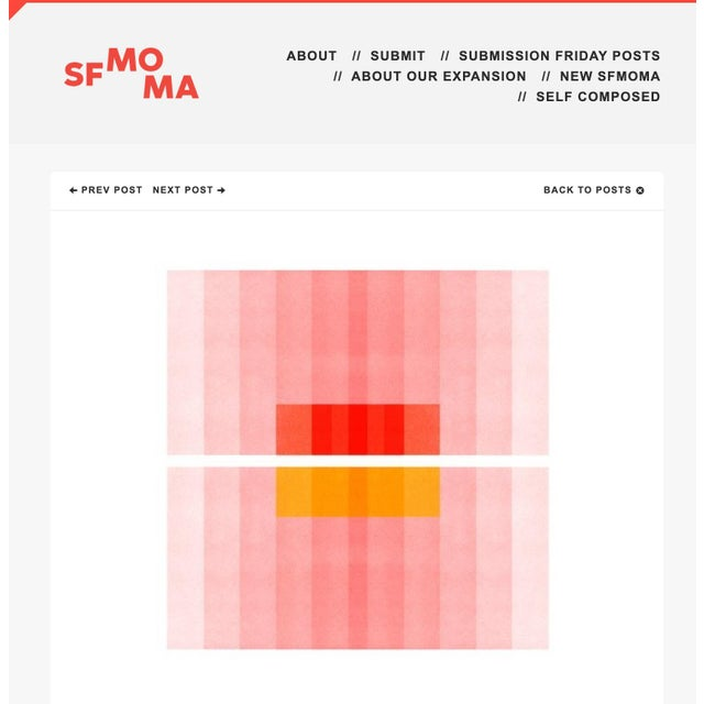 "Josef Albers ""Color Space Series 27: Pink, Red, Yellow"" Abstract Print - 8"" X 8"" For Sale - Image 4 of 4"