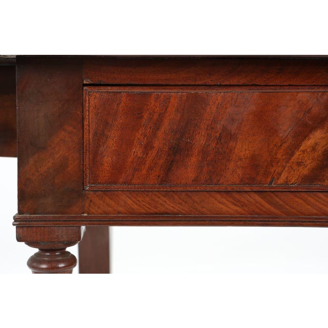American Classical Mahogany Library Table - Image 8 of 11