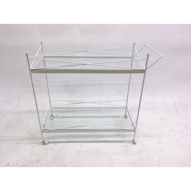 Mid-Century Bent Steel Bar Cart - Image 2 of 6