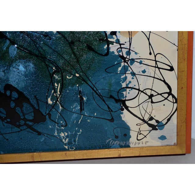 Abstract Expressionist Oil Painting by Van Winkle C.1950s For Sale - Image 4 of 12