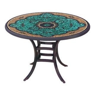 "Sardinia 60"" Bistro Table with Black Iron Base For Sale"