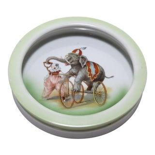 Antique Porcelain Childs Circus Bowl For Sale