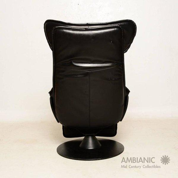 Animal Skin Contura Zero Gravity Recliner Chair by Modi, Hjellegjerde For Sale - Image 7 of 9