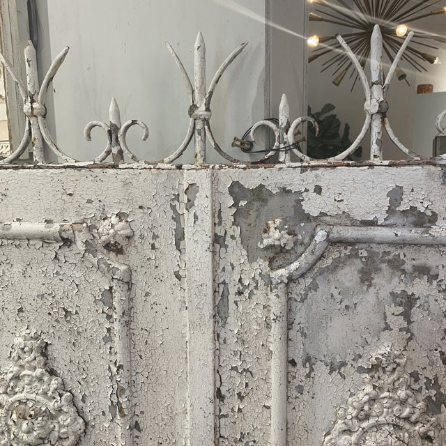 Metal 1880s Vintage French Decorative Garden Gate For Sale - Image 7 of 12