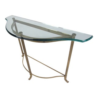 Mid-Century Style Demi-Lune Hall Table For Sale