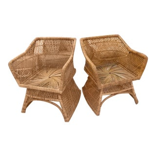 Island Style Lounge Chairs - a Pair For Sale