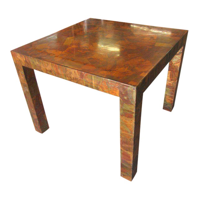 Paul Evans Style Copper Game Table For Sale