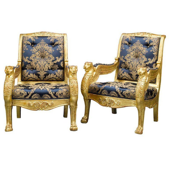 French Giltwood Armchairs - A Pair For Sale In New Orleans - Image 6 of 6