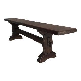 El Paso Imports Hardwood Trestle Bench