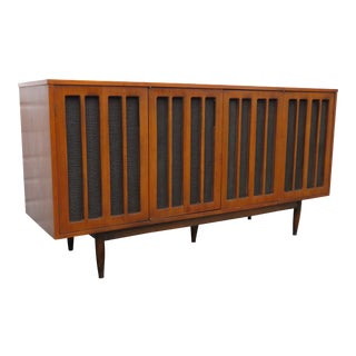 Mid Century Radio Cabinet Media Tv Console Buffet Sideboard Credenza For Sale