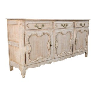 19th Century Bleached Oak Buffet For Sale