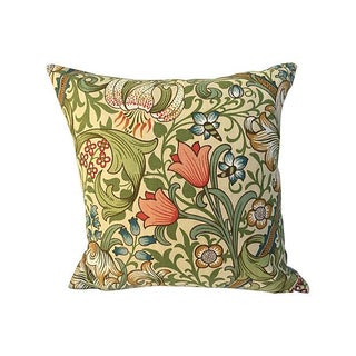 Vintage William Morris Gilded Lilly Pillow