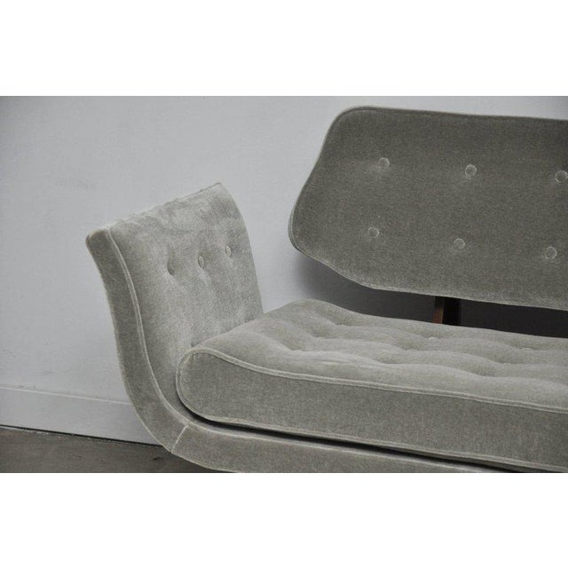 Dunbar Furniture La Gondola Sofa in Gray Mohair by Edward Wormley for Dunbar For Sale - Image 4 of 11