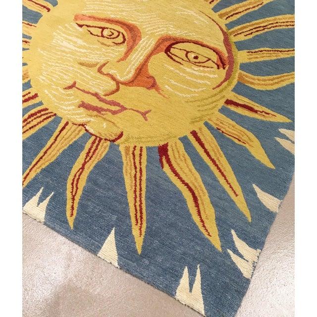 Silk Solana, the Sun Rug, 3' X 3' For Sale - Image 7 of 8