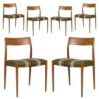 Set of Six Niels Møller Model #77 Dining Chairs For Sale