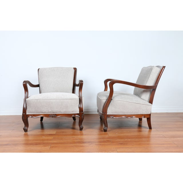 1940's Reupholstered Chair - Pair - Image 5 of 11