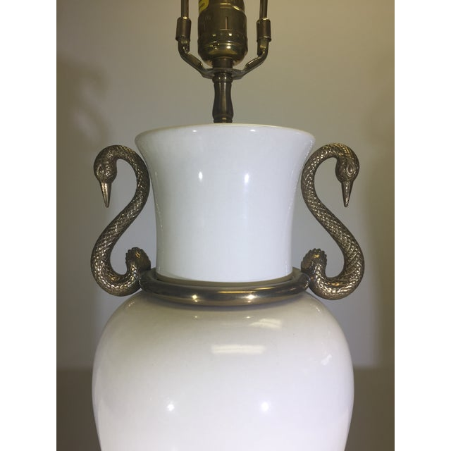 Chapman Table Lamp With Decorative Swan Motif - Image 4 of 5