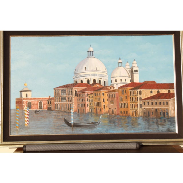 Venetian Canal Art Painting For Sale - Image 11 of 12