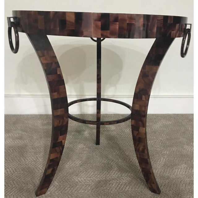 Eric Brand Tortoise Shell Side Table - Image 4 of 6