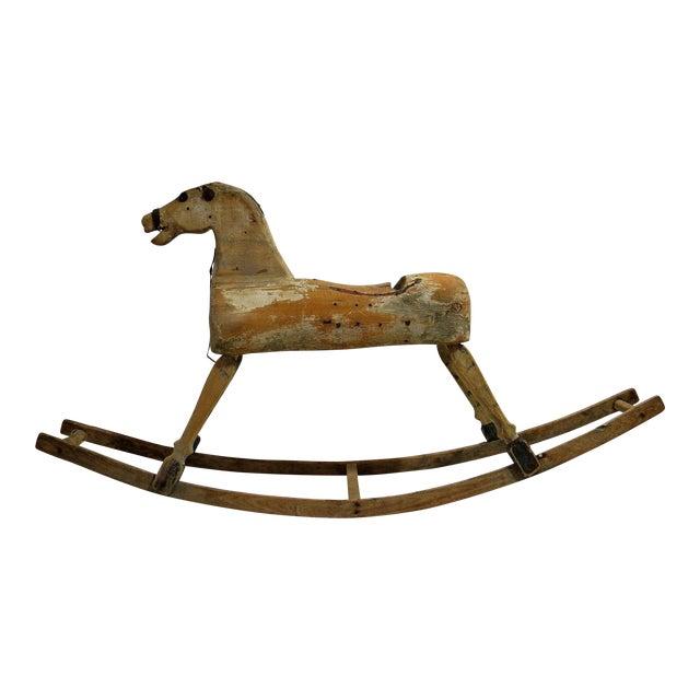 Antique Primitive Rocking Horse For Sale