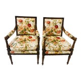 Image of Pair of French Walnut Chairs Att. Beacon Hill For Sale