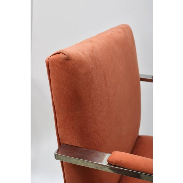 Brno Flat Bar Chairs by Knoll in Polished Steel and Ultra Suede - Set of 6 For Sale In West Palm - Image 6 of 8
