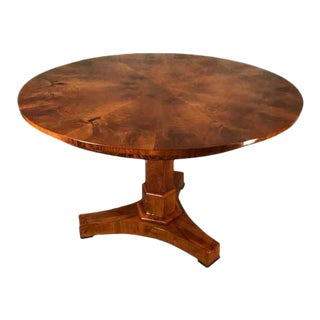 1820s Original Biedermeier Walnut Center Table For Sale