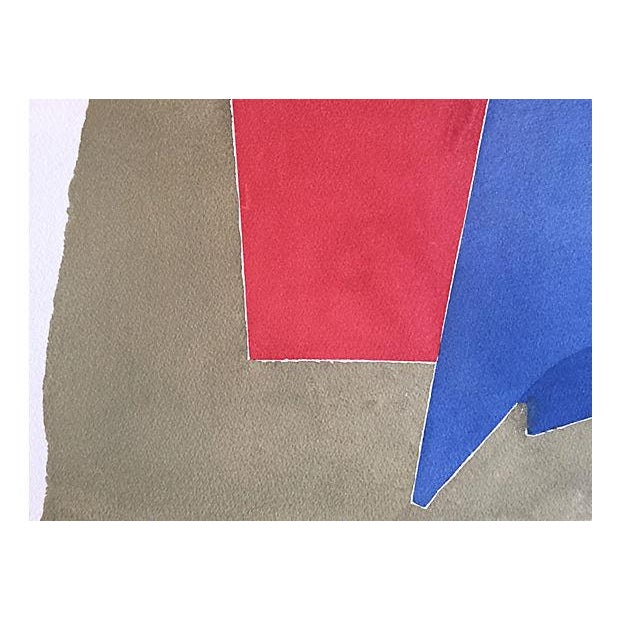 Vintage Abstract Watercolor by R. Stokes 1983 - Image 4 of 5