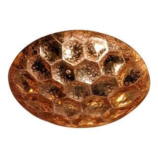 Tom Dixon Oxidized Brass Hex Bowl For Sale