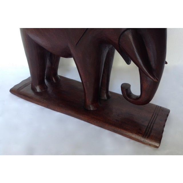 Brown 1920s Vintage African Ghana Elephant Ashanti Bench For Sale - Image 8 of 11