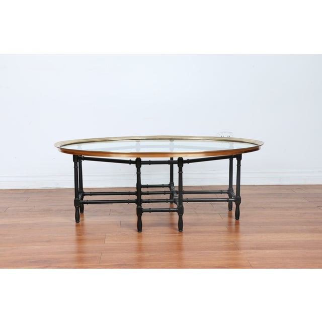 Bamboo Base Coffee Table - Image 2 of 10