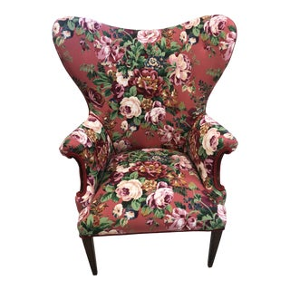 Mid-Century Modern Butterfly Wingback For Sale