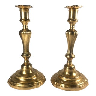 Mid 18th Century Louis XV Period Ormolu Candlesticks - a Pair For Sale