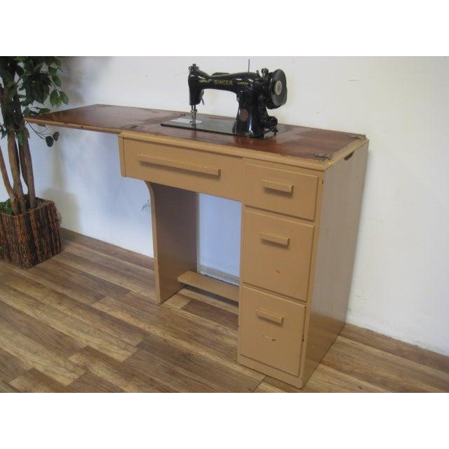 Vintage Singer Sewing Table - Image 7 of 11