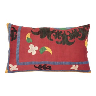 1980s Vintage Suzani Lumbar Pillow Cases -24''x14'' Inches For Sale