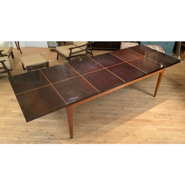 Tommi Parzinger 1950s Mahogany Extension Dining Table by Tommi Parzinger for Parzinger Originals For Sale - Image 4 of 13