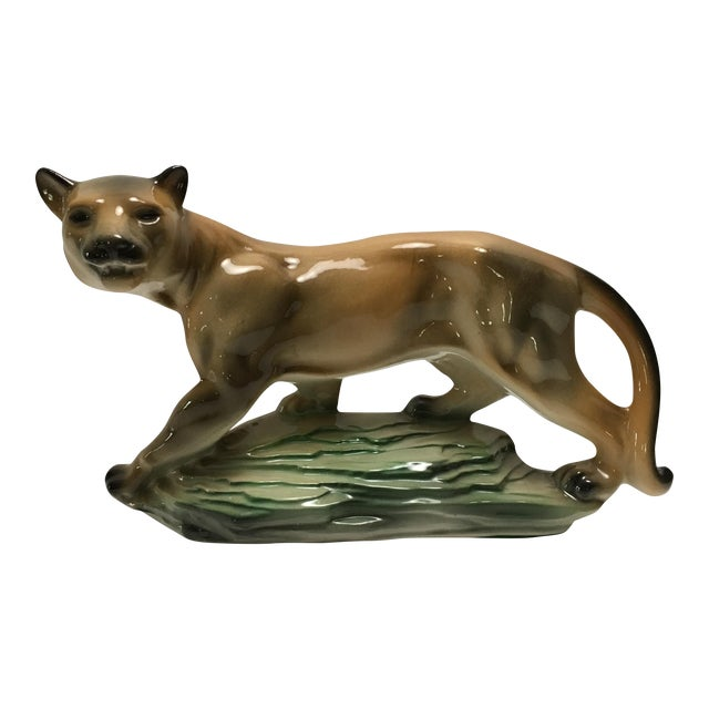 Lane Ceramics Mid-Century Mountain Lion For Sale