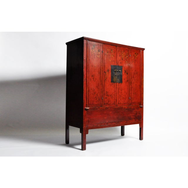 Chinese Wedding Cabinet With Square Lockplate For Sale - Image 11 of 13