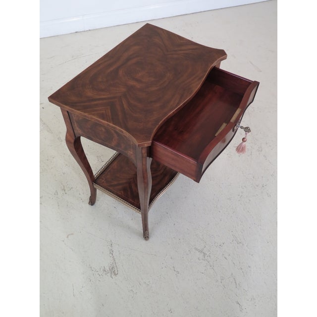 Brass Theodore Alexander French Louis XV Mahogany Nightstand For Sale - Image 7 of 13