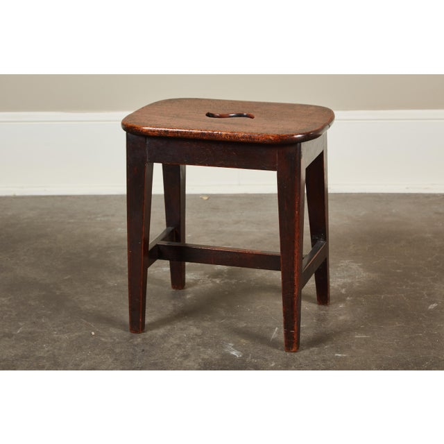 Small 19th Century English Georgian Oak Stool - Image 2 of 6