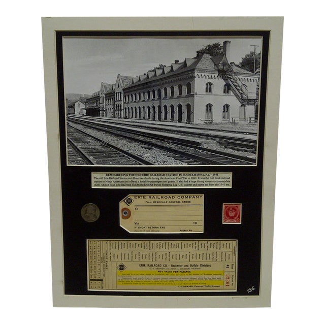 1941 Erie Railroad Company Multi-Media Collage For Sale