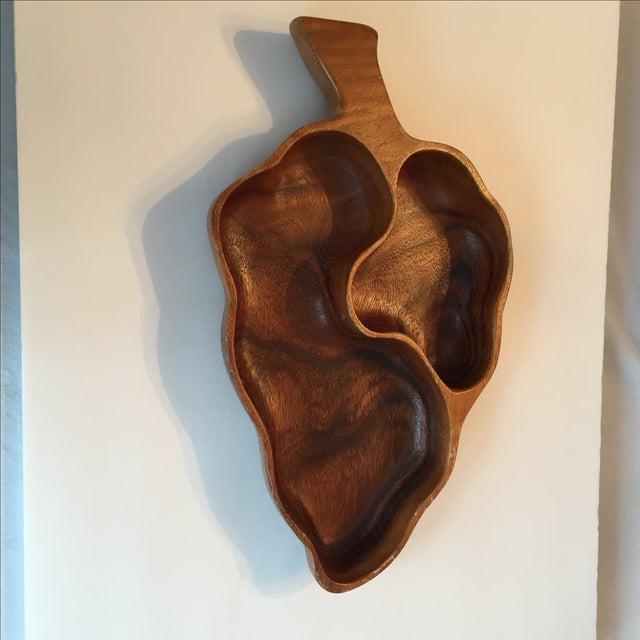 Wood Leaf Chip & Dip Bowl - Image 9 of 11