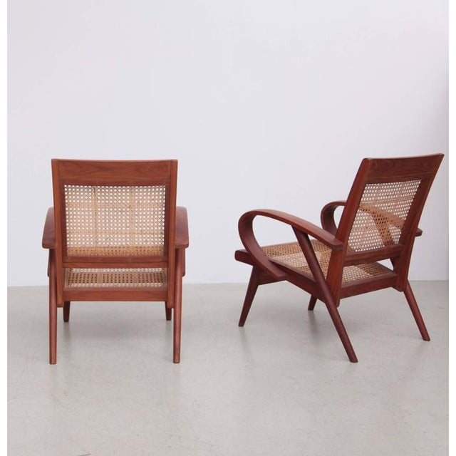 Pair of Danish Solid Teak Studio Lounge Chairs For Sale - Image 4 of 11