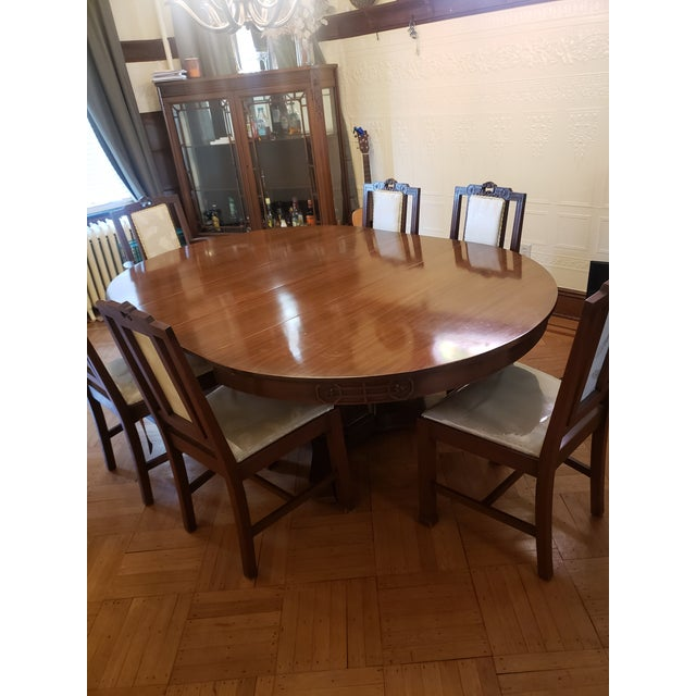 Antique John D. Raab Chair Co. Dining Room Set - Set of 7 For Sale In New York - Image 6 of 7